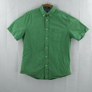 Tommy Hilfiger Mens S P Green Striped Button Down